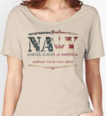 Armed Forces Day - Navy Women's Relaxed Fit T-Shirt