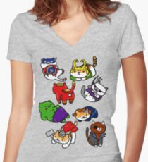 Atsume Assemble Women's Fitted V-Neck T-Shirt