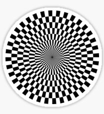 Op Art - Black and White Sticker