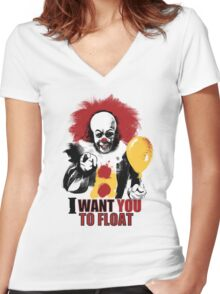 Pennywise - LIGHT Version Women's Fitted V-Neck T-Shirt