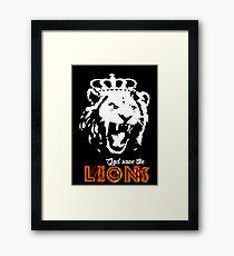 God Save The Lions Framed Print