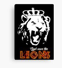God Save The Lions Canvas Print