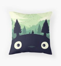 totoro 1 Throw Pillow