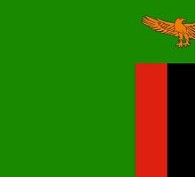 Zambia flag Stickers by Mark Podger