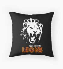God Save The Lions Throw Pillow