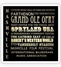 Pegatina Nashville Tennessee Lugares de interés