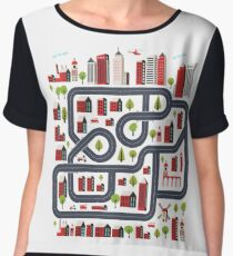 Urban landscape Women's Chiffon Top