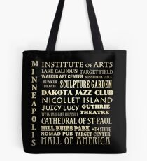 Minneapolis Minnesota Famous Landmarks Tote Bag