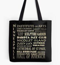 Minneapolis Minnesota Famous Landmarks Tote Bag