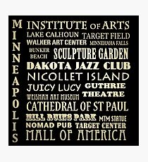 Minneapolis Minnesota Famous Landmarks Photographic Print
