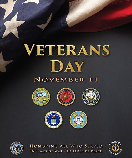 Veterans Day Armed Forces Poster by Nikki SpaceStuffPlus