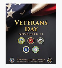 Veterans Day Armed Forces Poster Photographic Print