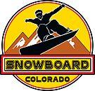 SNOWBOARD COLORADO Skiing Ski Mountain Mountains Snowboarding by MyHandmadeSigns