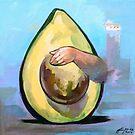 Avocado  | Vinyl paints on canvas by Filip Mihail