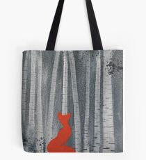 Foxy Loxy in the beech woods Tote Bag