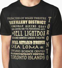 Toronto Canada Famous Landmarks Graphic T-Shirt