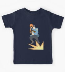TF2 - BLU Rocket Jump Kids Clothes
