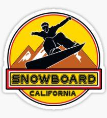 SNOWBOARD CALIFORNIA Skiing Ski Mountain Mountains Snowboarding LAKE TAHOE BIG BEAR SQUAW VALLEY TRUCKEE NORTHSTAR Sticker