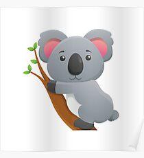 Koala Bear Cartoon Poster