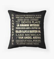 Grand Rapids Michigan Famous Landmarks Throw Pillow