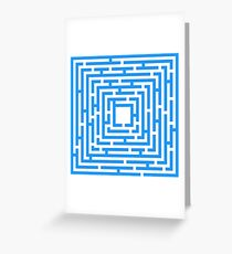 Abstract vector background with a maze. Greeting Card
