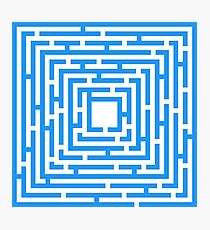 Abstract vector background with a maze. Photographic Print