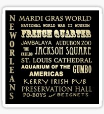 New Orleans Louisiana Famous Landmarks Sticker