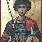 Saint George - Eastern Orthodox Icon by Filip Mihail