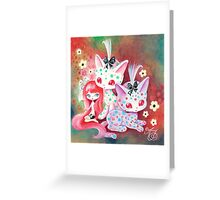 Spotted Kitties Greeting Card