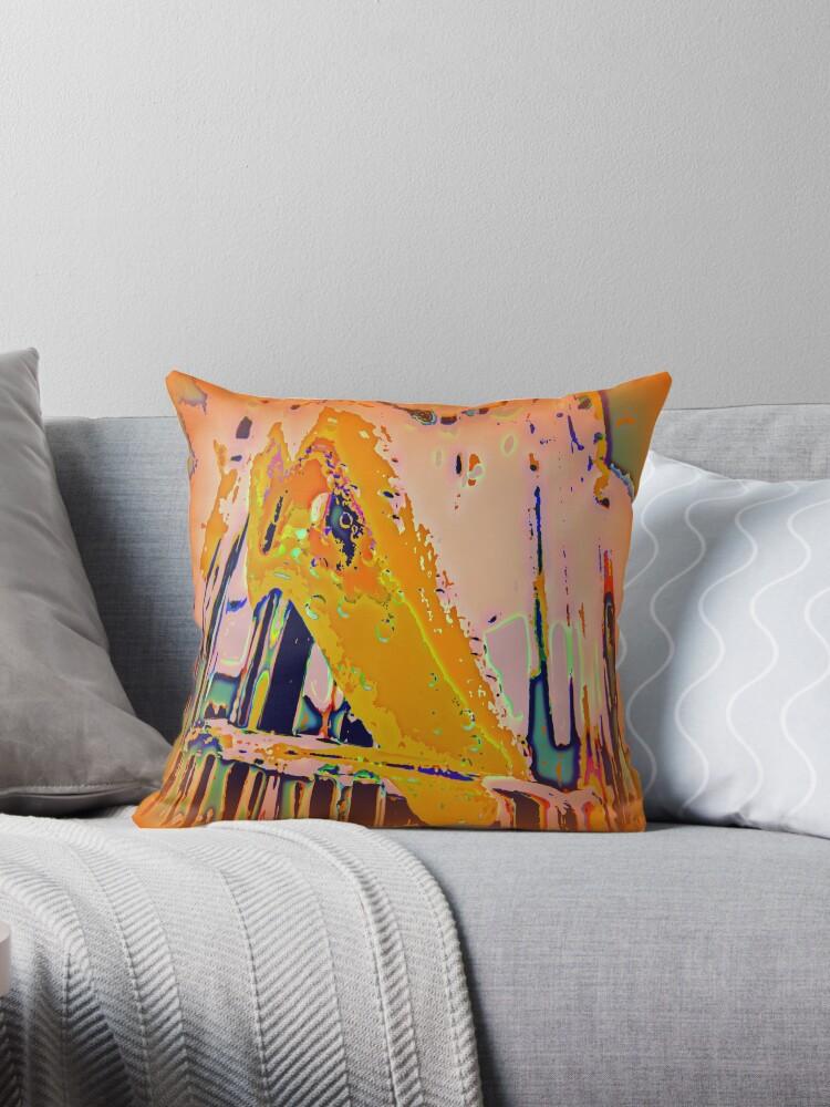 Pastels Abstract Cushion by Fara