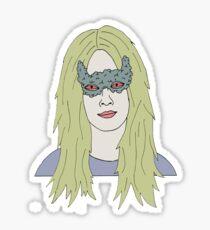 strange girl Sticker