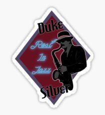 Duke Silver Sticker