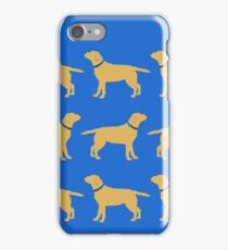 Golden Labradors - Blue Collar iPhone Case/Skin