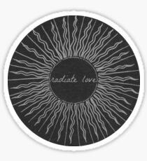 Radiate Love Sticker