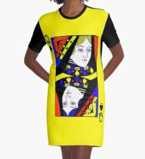 QUEEN OF SPADES (LARGE) Graphic T-Shirt Dress
