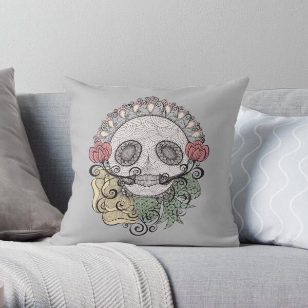 Skull Fiesta Throw Pillow