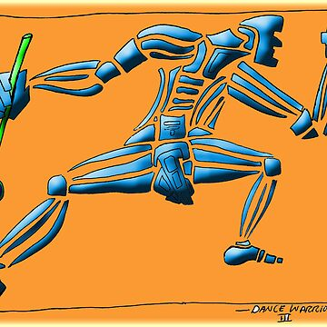 Dance Warrior II  FIST and SPEAR orange by JimmyGlenn
