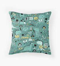 Communication Dinosaurs.  Throw Pillow