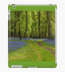 Footpath Through The Bluebell Wood iPad Case/Skin