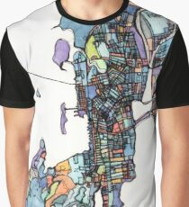 Abstract Map of Newport RI Graphic T-Shirt