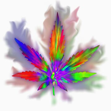 Colourful Weed Leaf by AcidCloud