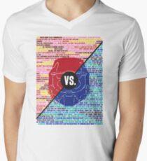 Red Vs. Blue Men's V-Neck T-Shirt