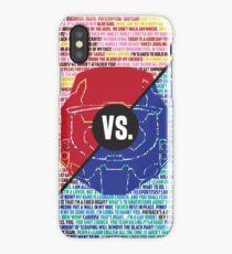 Red Vs. Blue iPhone Case/Skin