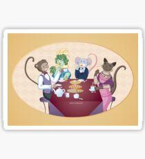 Animal Tea Party Sticker