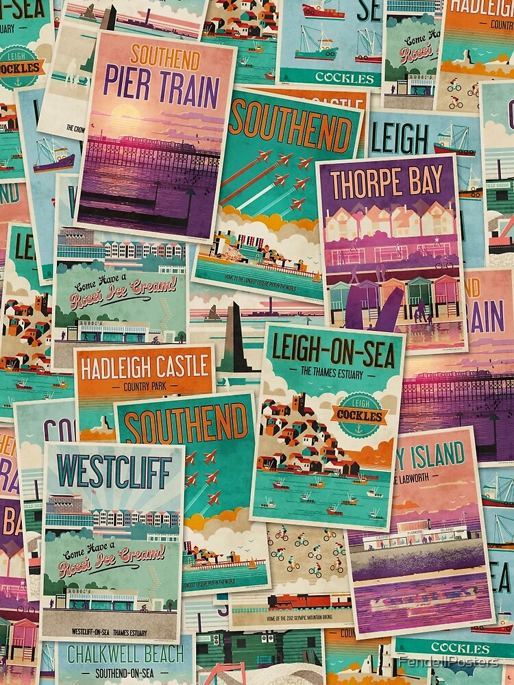 Southend-on-Sea, Essex, UK Poster Collection by FendellPosters
