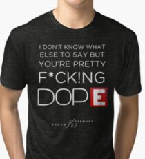 FIFTH HARMONY LYRICS #4 - Dope Tri-blend T-Shirt