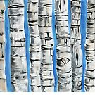 Birch Trees by Kathleen Joyce