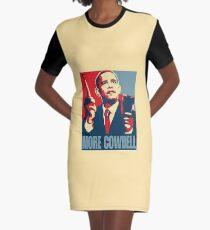 "Obama - ""More Cowbell"" Rock Design Graphic T-Shirt Dress"