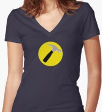 Captain Hammer Women's Fitted V-Neck T-Shirt