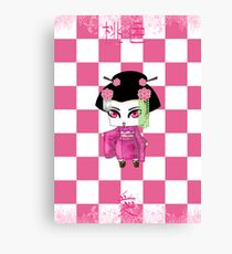 Chibi Lady Momoiro Canvas Print